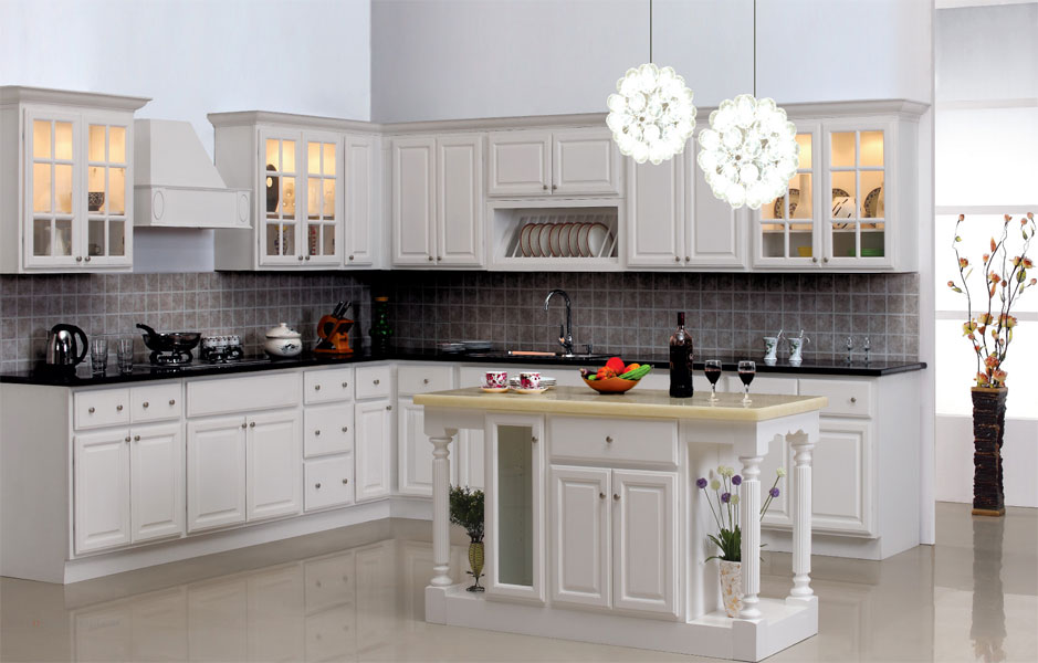 Pure White Maple Kitchen Cabinets And Bathroom Vanities