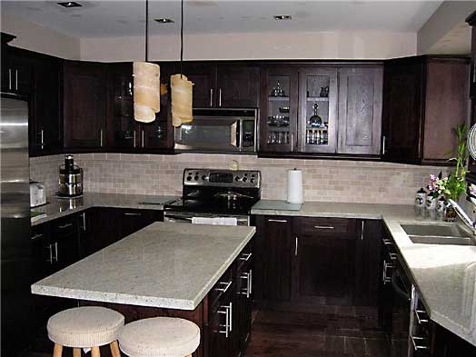 Espresso Kitchen Cabinets Gallery