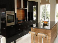 Kitchen pro 39 s onyx black pantry cabinets price list for Black onyx kitchen cabinets